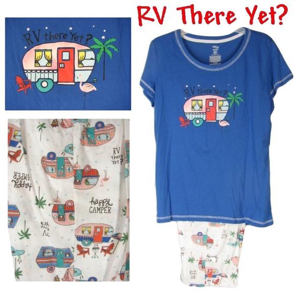 New Womens Secret treasures 2 Pc RV There Yet Pajama Sleepwear Set.